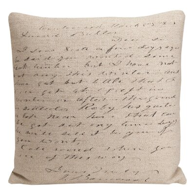 Provence Home Collection Artisan Script Pillow