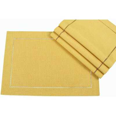 Xia Home Fashions Melrose Cutwork Hemstitch Placemat (Set of 4)