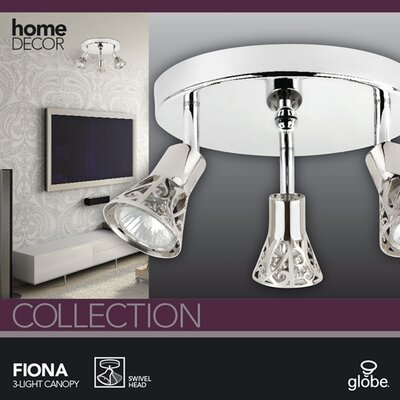 Globe Electric Company Fiona 3 Light Canopy Light