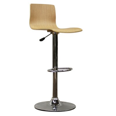 Wholesale Interiors Milka Adjustable Barstool in Natural