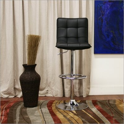 Wholesale Interiors Baxton Studio Aleena Faux Leather Barstool in Black (Set of 2)