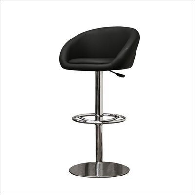 Wholesale Interiors Baxton Studio Wynn Faux Leather Barstool in Black (Set of 2)