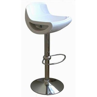 Wholesale Interiors Cornelius Low-back Adjustable Swivel Barstool (Set of 2)