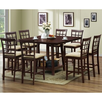 Wholesale Interiors Baxton Studio Katelyn 7 Piece Counter Height Dining Set