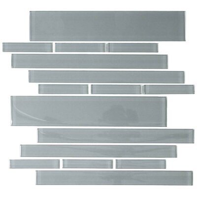 "Giorbello Club 10-1/2"" x 9-1/2"" Cristezza Glass Tile in Gray"