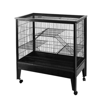 A&E Cage Co. Large 3 Level Small Animal Cage on Casters
