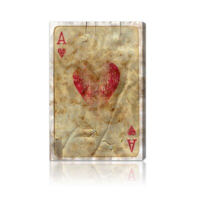 "Oliver Gal ""Ace of Hearts"" Canvas Art Print"
