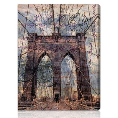 "Oliver Gal ""Brooklyn Bridge"" Canvas Art Print"