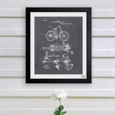 Oliver Gal ''Fryer, Driving Gear for Bicycle, 893'' Framed Art Print
