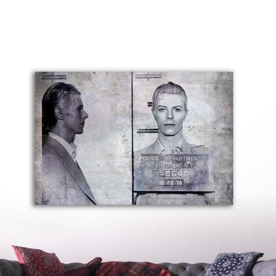 Oliver Gal ''David Bowie Mugshot'' Canvas Art Print