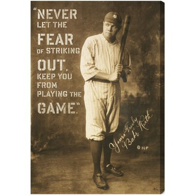 Oliver Gal Babe Ruth Quote Canvas Art
