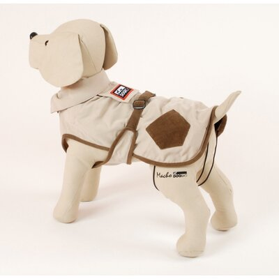 Corduroy Hunter Dog Coat in Cream with Brown Pockets