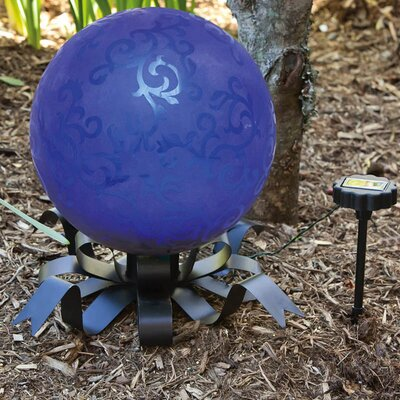 Evergreen Flag & Garden Solar Bow Gazing Ball Stand