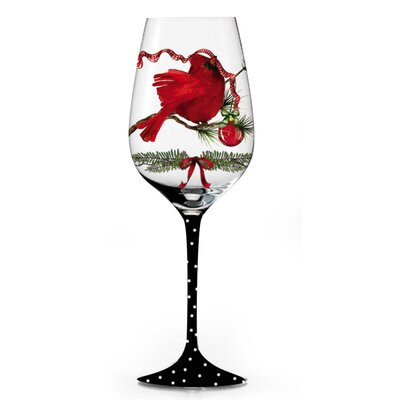 A Peaceful Christmas Handpainted Wine Glass