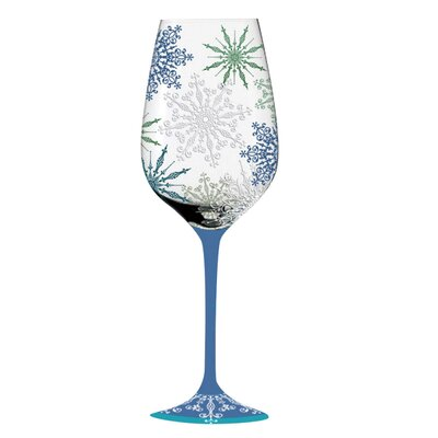 Holiday Elegance Handpainted Wine Glass