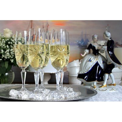 Martinka Crystalware & Lifestyle Madame Royale Crystal Glass Toasting Flute (Set of 2)