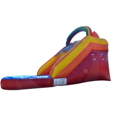 JumpOrange Rainbow Xtreme Wet/Dry Commercial Grade Inflatable Water Slide