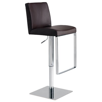 Nuevo Matteo Adjustable Bar Stool in Chocolate