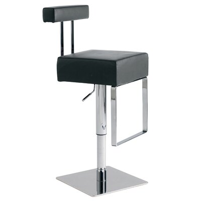 Nuevo Aria Adjustable Bar Stool in Black