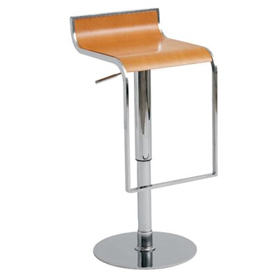Nuevo Nero Adjustable Bar Stool in Light Wood