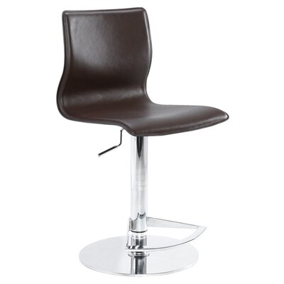 Nuevo Weston Adjustable Bar Stool in White