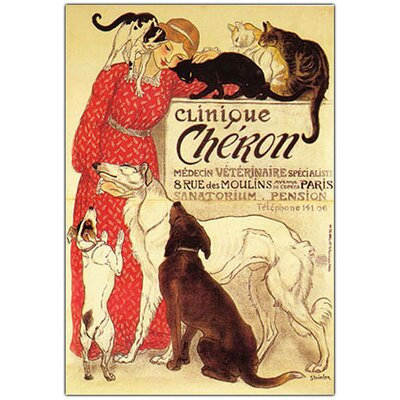 Clinique Cheron by Theophile A Steinlen, Traditional Canvas Art - 24