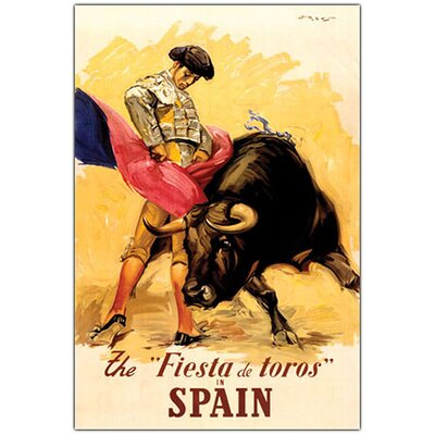 The Fiesta de Toros Spain, Traditional Canvas Art - 47