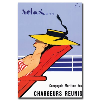 Relax by Rene Gruau, Traditional Canvas Art - 37