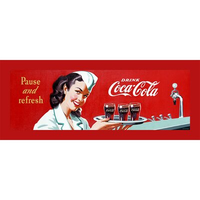 Trademark Fine Art Coca Cola Coke Waitress Stretched Canvas Print