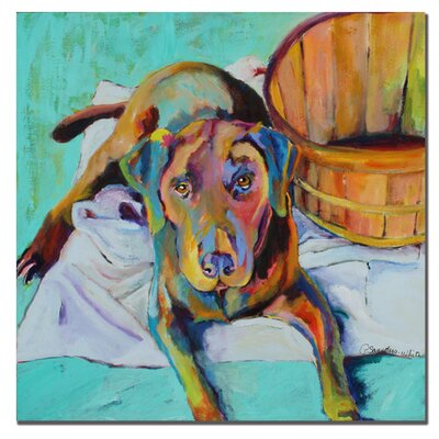 "Trademark Fine Art Basket Retriver by Pat Saunders-White, Canvas Art - 24"" x 24"""