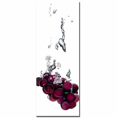 "Trademark Fine Art Grapes Splash II by Roderick Stevens, Canvas Art - 32"" x 12"""