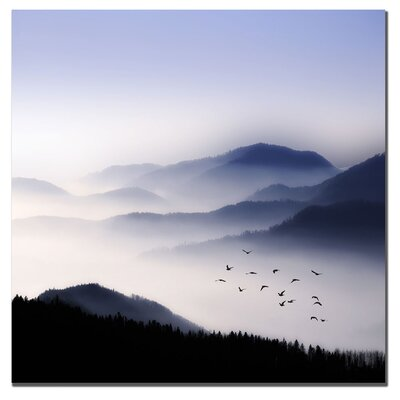 "Trademark Fine Art Flying Over the Fog by Philippe Sainte-Laudy, Canvas Art - 24"" x 24"""