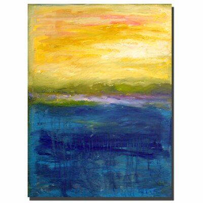 "Trademark Fine Art Gold and Pink Abstract by Michelle Calkins, Canvas Art - 32"" x 24"""