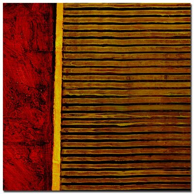"Trademark Fine Art Red and Green Rustic by Michelle Calkins, Canvas Art - 24"" x 24"""