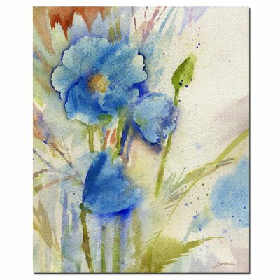 'Magical Blue Poppy' Canvas Art