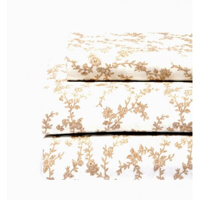 Laura Ashley Home Victoria Flannel Sheet Set in Ivory