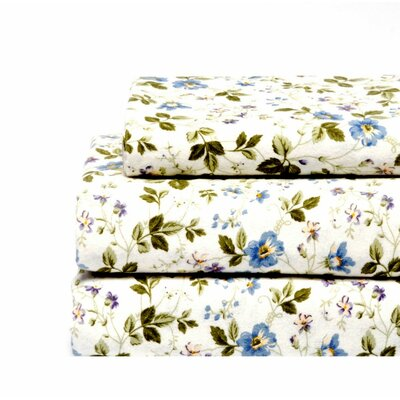 Laura Ashley Home Spring Bloom Flannel Sheet Set