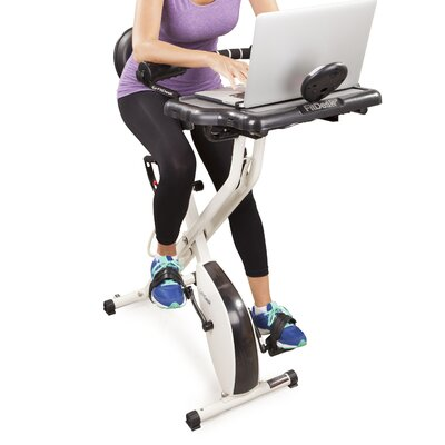 Fitdesk X2 0 Semi Recumbent Bike With Desk Amp Reviews Wayfair