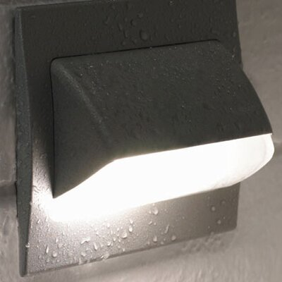 Blauet Tekno Recessed 1 Light Wall Sconce with Covering