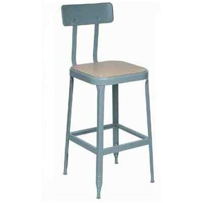 Lyon Workspace Products Stool with Mid Back Support and Adjustable Leg Extensions