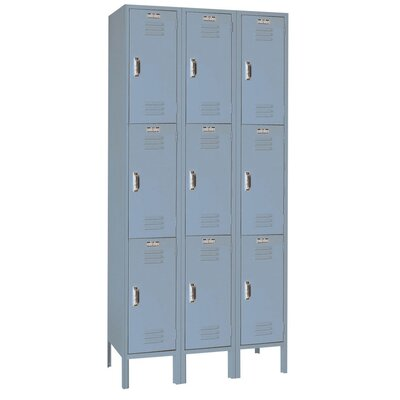 Lyon Workspace Products Set-up Triple Tier - 3 Wide Locker