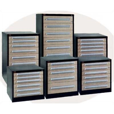 "Lyon Workspace Products Bench High Standard Cabinet with 7 Drawers: 30"" W x 28 1/4"" D x 33 1/4"" H"
