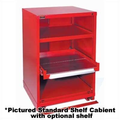 "Lyon Workspace Products Bench High Slenderline Shelf Cabinet: 22 3/4"" W x 28 1/4"" D x 33 1/4"" H"
