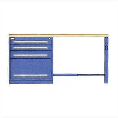 "Lyon Workspace Products Modular Drawer Workstation with  4 Drawer Cabinet: 72"" W x 28"" D x 35 1/2""  H"