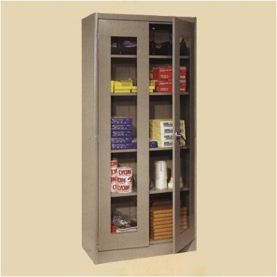"Lyon Workspace Products Visible Storage Cabinet:  78"" H x 36"" W x 24"" D"