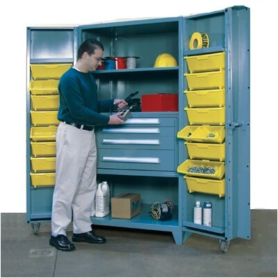 Lyon Workspace Products 39&quot; Wide Cabinet w/ 36&quot; W Modular Drawers