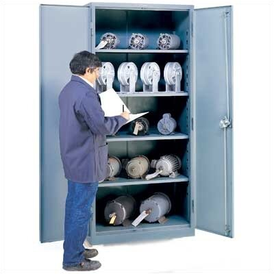 "Lyon Workspace Products All-Welded Storage Cabinet with 4 Shelves: 78 "" H x 36"" W x 24"" D"