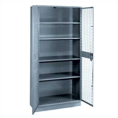 Lyon Workspace Products All-Welded Visible Storage Cabinet with 4 Shelves: 72&quot; H x 36&quot; W x 21&quot; D