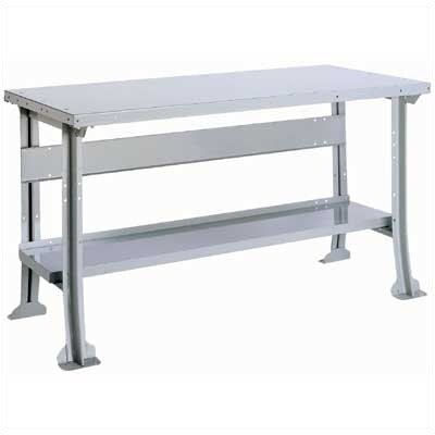 "Lyon Workspace Products Work Bench with Stringer and Shelf: 60"" W x 34"" D"