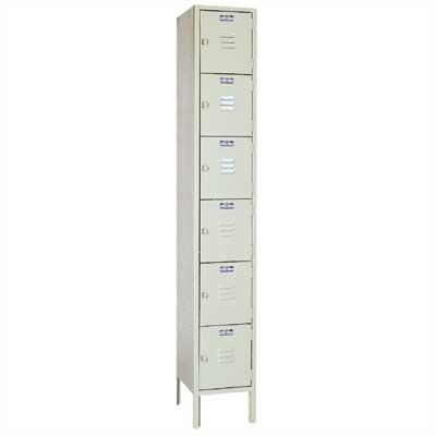 Lyon Workspace Products Six Tier Locker - 1 Section (Unassembled)